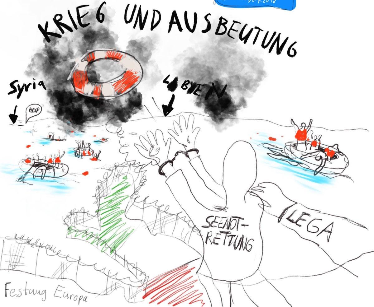 antira-Wochenschau: Einfachere Ausschaffungen nach Eritrea, Schiffsblockade, Frontex, City Card