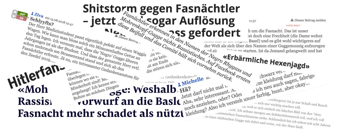 Der Wille zum Rassismus. Wie Basler Guggen und Schweizer Medien gegen die Vernunft Front machen