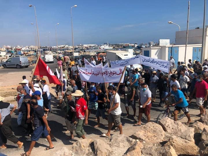 Protest der Fischer von Zarzis gegen den sog. Libysche Küstenwache